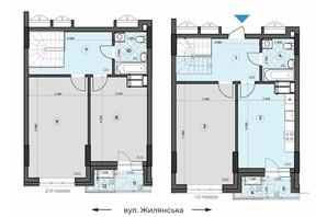 ЖК Crystal Residence: планування 3-кімнатної квартири 102.21 м²