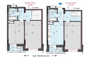 ЖК Crystal Residence: планування 3-кімнатної квартири 99.52 м²