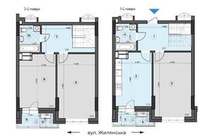 ЖК Crystal Residence: планування 3-кімнатної квартири 102.18 м²