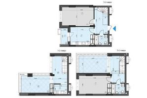 ЖК Crystal Residence: планування 2-кімнатної квартири 107.47 м²