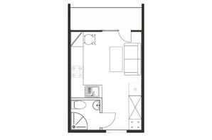 ЖК Cузір'я-2019: планировка 1-комнатной квартиры 19.5 м²