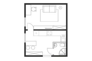 ЖК Cузір'я-2019: планування 1-кімнатної квартири 26.1 м²