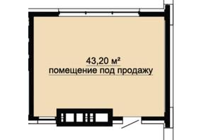 ЖК DeLight Hall: планування приміщення 43.2 м²