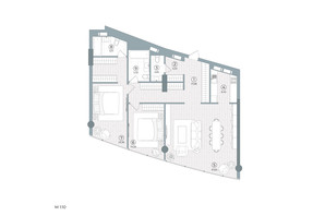 ЖК Delrey: планування 2-кімнатної квартири 86 м²