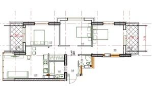 ЖК Derby Style House: планировка 3-комнатной квартиры 45.56 м²