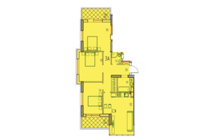 ЖК Derby Style House: планировка 3-комнатной квартиры 90.63 м²