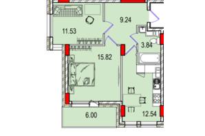 ЖК Derby Style House: планировка 2-комнатной квартиры 55.85 м²