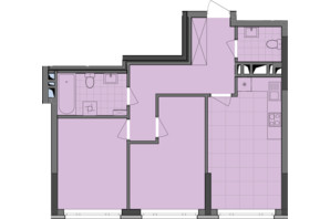 ЖК Dibrova Park: планировка 2-комнатной квартиры 61.25 м²