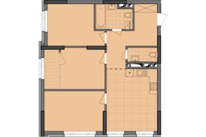 ЖК Dibrova Park: планировка 3-комнатной квартиры 79.21 м²