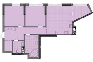 ЖК Dibrova Park: планування 2-кімнатної квартири 79.71 м²