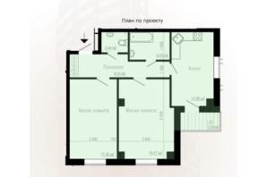 ЖК Дім на Зерновій: планування 2-кімнатної квартири 68.2 м²