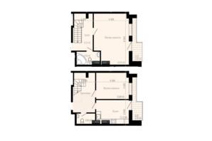 ЖК Дім на Зерновій: планування 2-кімнатної квартири 80.29 м²