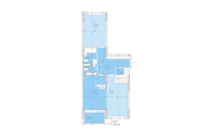 ЖК Дніпровська Мрія: планування 2-кімнатної квартири 73.26 м²