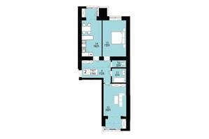 ЖК Дизайн парк: планування 2-кімнатної квартири 73.27 м²