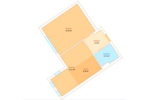 ЖК Echo Park 2: планировка 1-комнатной квартиры 43.82 м²