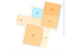 ЖК Echo Park 2: планировка 1-комнатной квартиры 45.04 м²