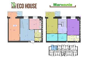 ЖК Eco House: планування 3-кімнатної квартири 109 м²