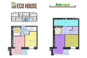 ЖК Eco House: планування 3-кімнатної квартири 76 м²