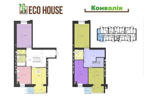 ЖК Eco House: планування 4-кімнатної квартири 117.8 м²