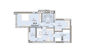 ЖК Edelweiss House (Эдельвейс Хаус): планировка 3-комнатной квартиры 123.25 м²