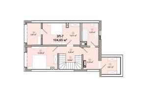 ЖК Edelweiss House: планировка 3-комнатной квартиры 104.65 м²