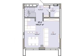 ЖК Edelweiss House: планировка 3-комнатной квартиры 169.27 м²