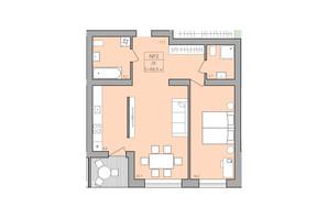 ЖК ЕкоДім: планування 2-кімнатної квартири 68.9 м²