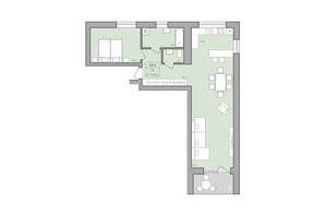 ЖК ЕкоДім: планування 2-кімнатної квартири 75.9 м²