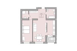 ЖК ЕкоДім: планування 2-кімнатної квартири 68.5 м²