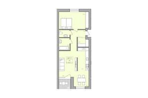 ЖК ЕкоДім: планування 2-кімнатної квартири 69.7 м²