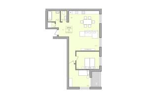 ЖК ЕкоДім: планування 3-кімнатної квартири 82.8 м²