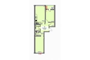 ЖК Елегія Парк: планування 2-кімнатної квартири 73.5 м²