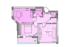 ЖК Элегия Парк: планировка 2-комнатной квартиры 65.28 м²