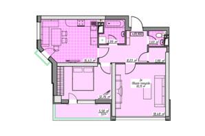 ЖК Элегия Парк: планировка 2-комнатной квартиры 65.15 м²