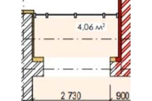 ЖК Елітний: планування приміщення 4.06 м²