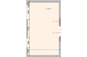 ЖК Елітний: планування приміщення 71.08 м²