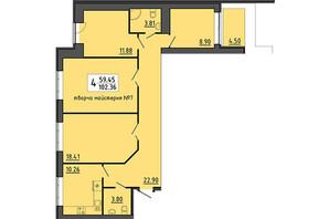 ЖК Енергія: планування приміщення 102.36 м²
