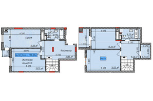 ЖК Европейский квартал: планировка 3-комнатной квартиры 123 м²