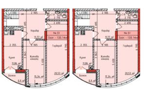 ЖК Европейский квартал: планировка 3-комнатной квартиры 129 м²