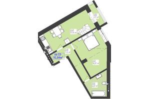 ЖК Familiya: планування 2-кімнатної квартири 92.04 м²