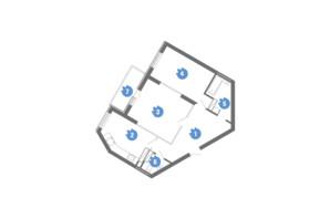 ЖК Family & Friends: планировка 2-комнатной квартиры 68.4 м²