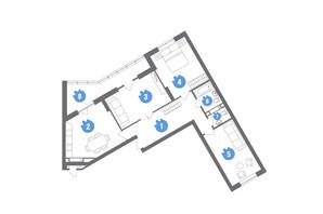 ЖК Family & Friends: планировка 3-комнатной квартиры 100.18 м²