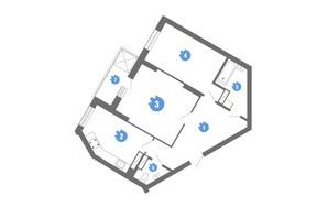 ЖК Family & Friends: планировка 2-комнатной квартиры 67.67 м²