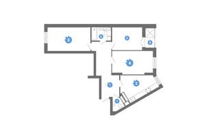 ЖК Family & Friends: планировка 3-комнатной квартиры 79.1 м²