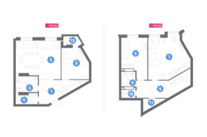 ЖК Family & Friends: планировка 3-комнатной квартиры 127.99 м²