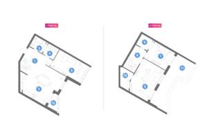 ЖК Family & Friends: планировка 3-комнатной квартиры 131.6 м²