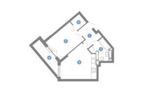 ЖК Family & Friends: планировка 1-комнатной квартиры 43.55 м²