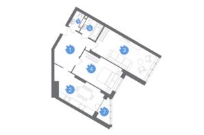 ЖК Family & Friends: планировка 2-комнатной квартиры 68.71 м²