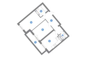 ЖК Family & Friends: планировка 2-комнатной квартиры 58.55 м²