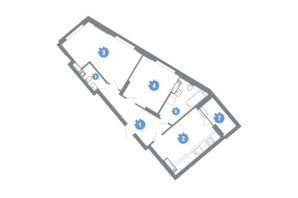 ЖК Family & Friends: планировка 2-комнатной квартиры 65.07 м²